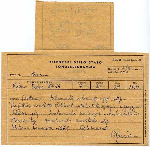 modulo per telegramma