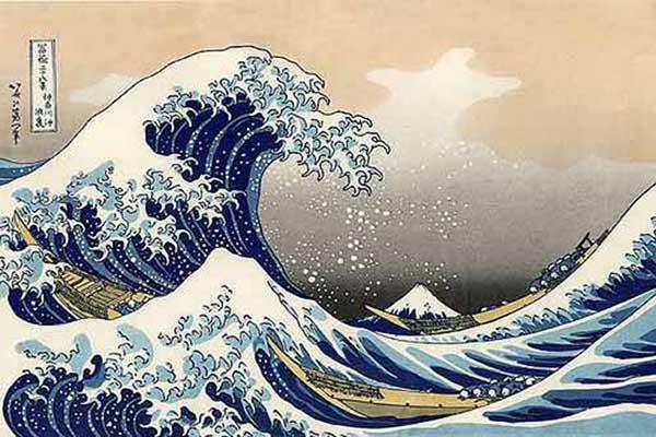 Katsushika Hokusai: la grande onda